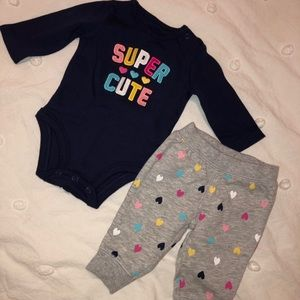 Newborn Baby Girl's Carter's Outfit